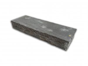 Indian Sandstone Thick Block Steps - Sagar Black Charcoal - 1000 x 350mm