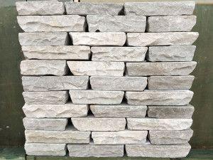 Indian Sandstone Walling - Tumbled - Kandla Grey Blocks
