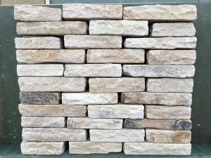 Indian Sandstone Walling - Tumbled - Mint Blocks