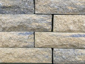Pitched Face Walling Blocks - Weathered Buff