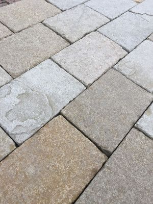 Indian Limestone Paving - Sawn Block Sandur Yellow 4