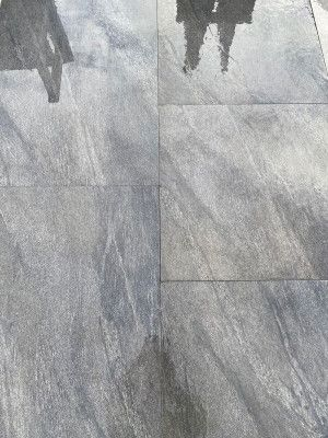 Vitrified Porcelain Paving - Vesuvius Black - Single Sizes
