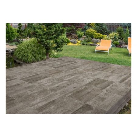 Porcelain Paving Collection - Deck Brown - Single Sizes (Individual Slabs)