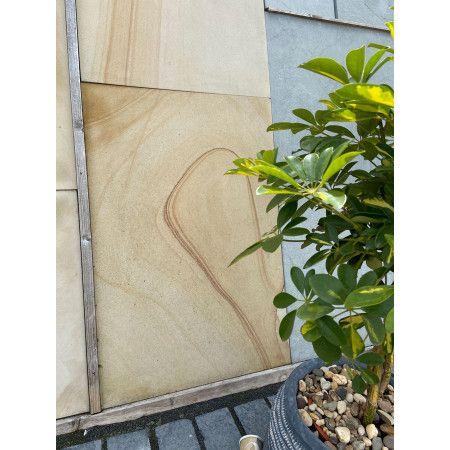 Natural Sandstone Paving - Drift Sand Honed - Single Sizes (Individual Slabs)