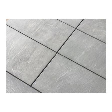 Porcelain Paving Collection - Kandla Grey Sawn Edge - Single Sizes (Individual Slabs)