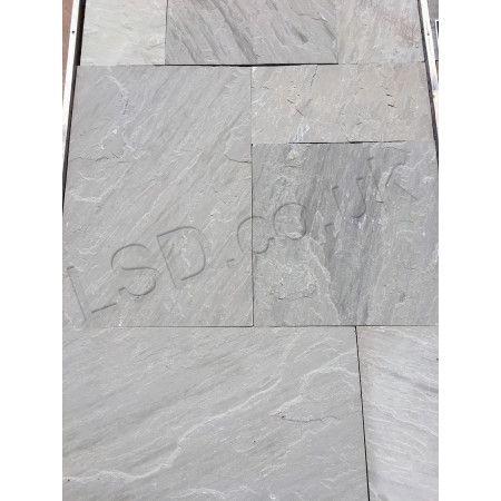 Indian Sandstone Paving - Sawn Kandla Grey - Single Sizes - Calibrated (Individual Slabs)