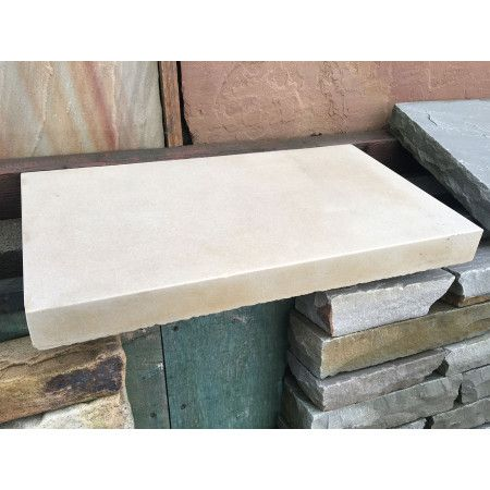 Natural Indian Sandstone - Smooth Polished Mint (Cream) - Walling Copings (Individually)