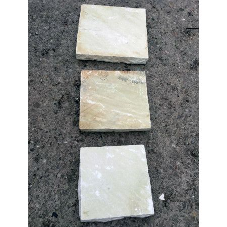 Natural Indian Sandstone - Mint Fossil - Walling Pier Caps