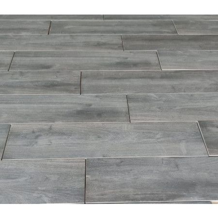 Porcelain Paving - Wooden Plank Effect - Anthracite - Single Sizes (Individual Slabs)