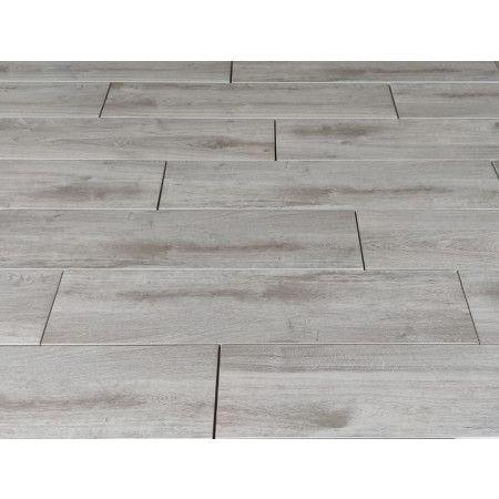 Porcelain Paving - Wooden Plank Effect - Grey - Single Sizes