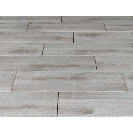Porcelain Paving - Wooden Plank Effect - Grey - Single Sizes (Individual Slabs)