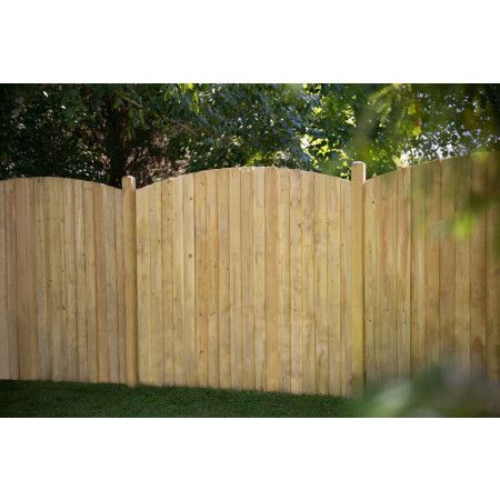 Forest - Featheredge Fence Panel - Pressure Treated - Dome Top