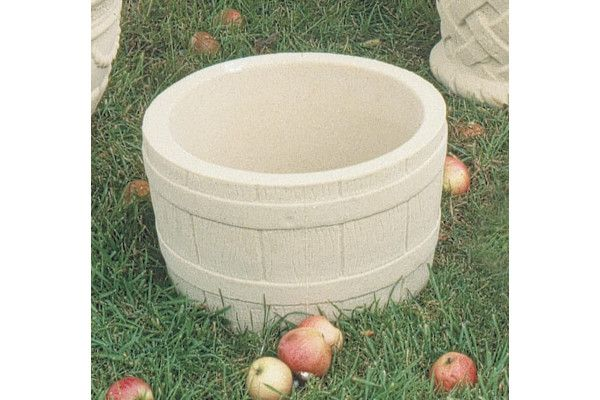 Small Barrel Stone Planter