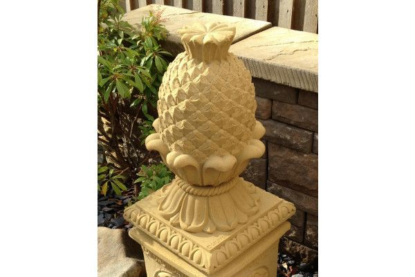Large Stone Pineapple Finial Cheap Garden Features At Lsd