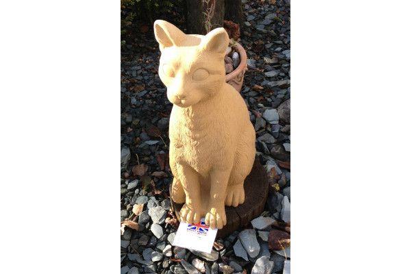 Cat Stone Statue