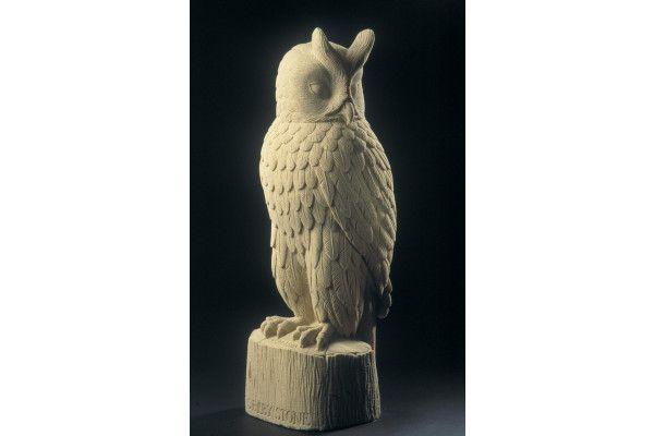 Eagle Owl Stone Statue