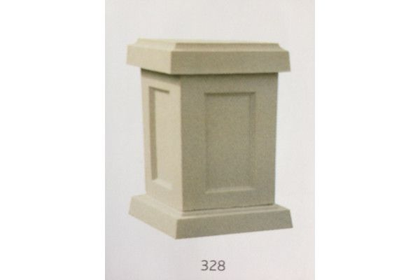 Small Square Stone Pedestal