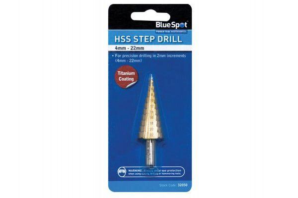 BlueSpot Tools HSS Step Drill 4-22mm