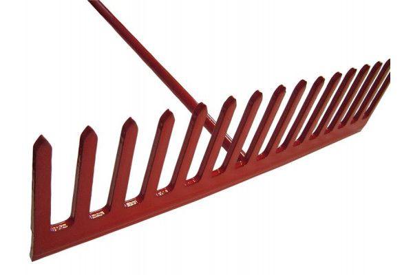 Faithfull Asphalt Rake 16 Flat Teeth - Tubular Steel Shaft