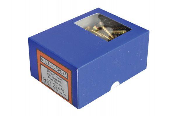Forgefix Multi-Purpose Pozi Screw CSK ST ZYP Assorted 1800 Piece