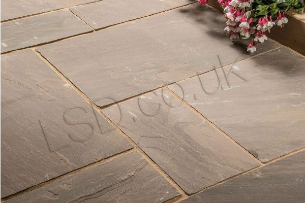 Autumn Brown Patio Pack Indian Sandstone Paving Slabs