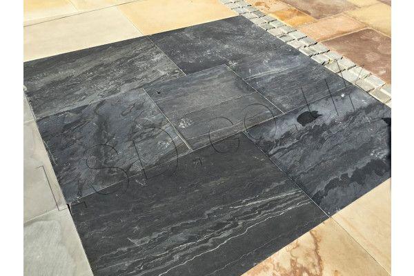 Natural Quartzite Paving - Black Galaxy - Single Sizes (Individual Slabs)