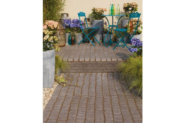 Bradstone Carpet Stones Cobble Charcoal Sale On Paving