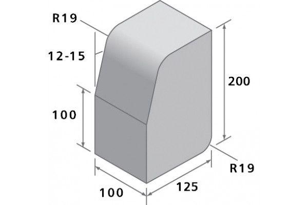 Bradstone - Block Kerbs - Charcoal - Large, Medium and Small