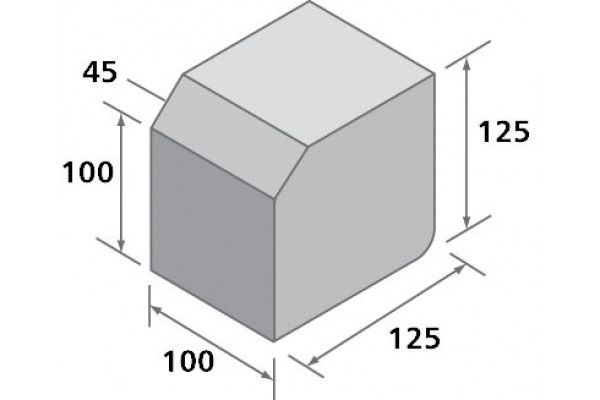 Bradstone - Block Kerbs - Charcoal - Large and Small (Individual Blocks)