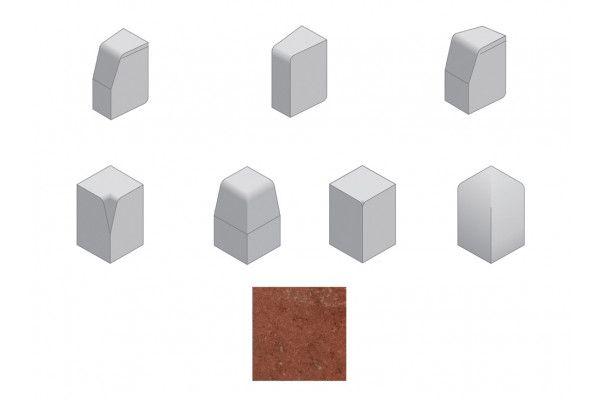 Bradstone - Large Block Kerbs Accessories - Red - Internal, External, Radius, Angle