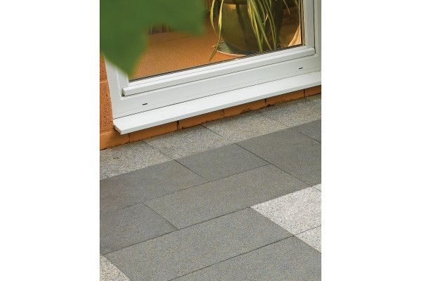 Bradstone - Natural Granite Paving - Mid Grey - Single Sizes (Individual Slabs)