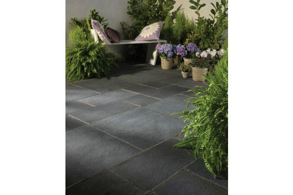 Bradstone - Natural Limestone Paving - Blue Black - Single Sizes (Individual Slabs)