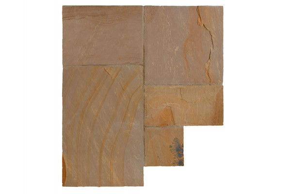Bradstone - Natural Sandstone Paving - Autumn Green - Single Sizes (Individual Slabs)