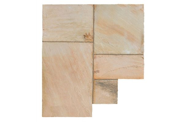 Bradstone - Natural Sandstone Paving - Fossil Buff - Single Sizes (Individual Slabs)