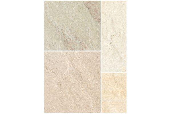 Bradstone - Natural Sandstone Paving - Fossil Buff - Single Sizes
