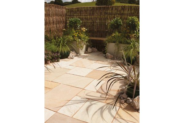 Bradstone - Natural Sandstone Paving - Fossil Buff - Patio Pack