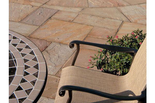 Bradstone Natural Sandstone Paving - Sunset Buff - Single Sizes (Individual Slabs)