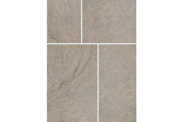 Bradstone - Riverwashed Limestone - Steel Grey - Patio Kit