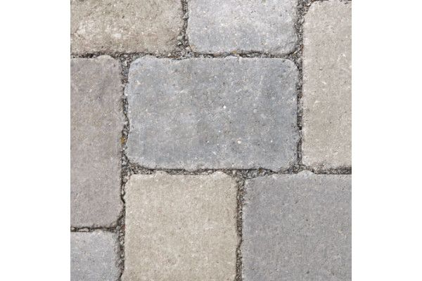 Bradstone Woburn Rumbled Infilta Block Paving Graphite