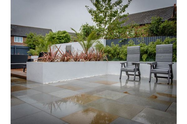 Marshalls - Fairstone Sawn Versuro Garden Paving - Antique Silver Multi - Project Pack