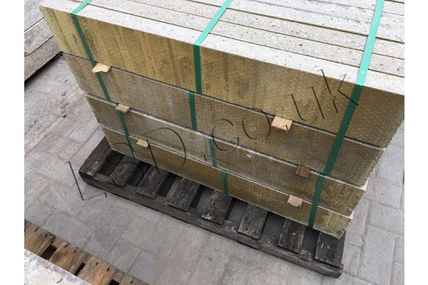 Thick Flat Top Edging - Pressed Concrete - Buff - 900 x 150mm