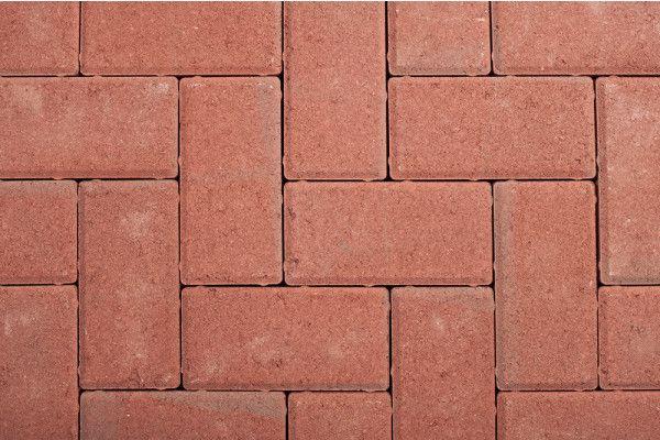 Castacrete Block Paving Driveway Red 200 X 100mm