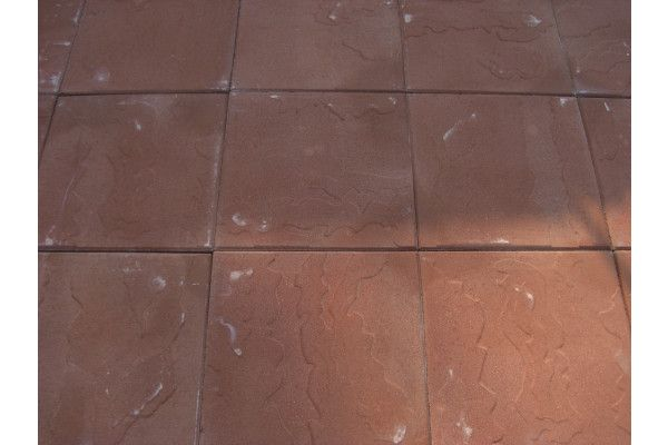 Cemex - Dovedale Riven Paving - Red - 450 x 450mm - Individual