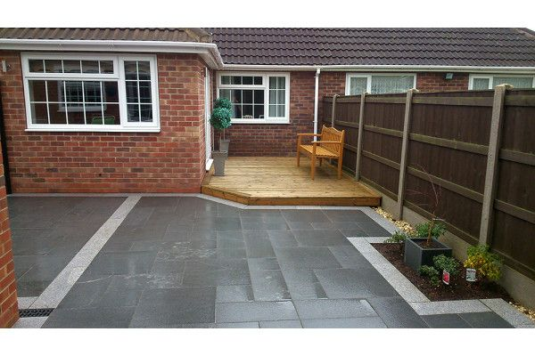 garden planters railway sleepers with Natural Granite Paving Dark Grey Patio Pack on Stonecraft Paving Slabs Textured Buff also Cheap Paving Slabs Riven Black 450 X 450mm in addition Natural Granite Paving Dark Grey Patio Pack furthermore Planter Box also Square Floating Oak Coffee Table.