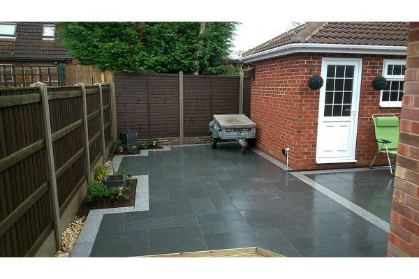 Wet Dark Grey Granite