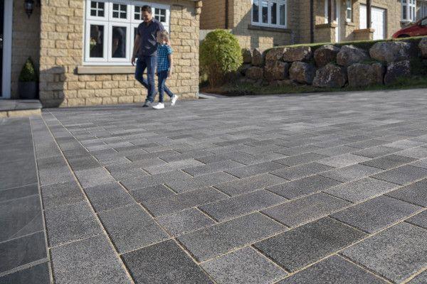 Marshalls - Concrete Driveway Block Paving - Driveline Nova Coarse - Pebble Grey