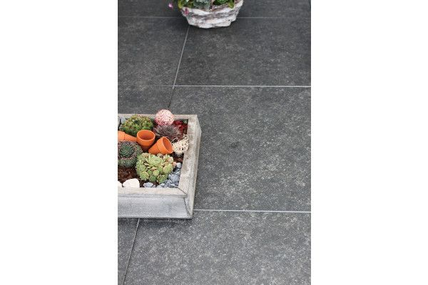 Global Stone - Petrous Collection - Ceramic Paving - Anthracite - 600 x 600mm - Individual (Pack of 2)