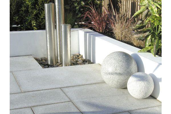 Global Stone - Polar Granite Paving Collection - Silver Grey - Single Sizes
