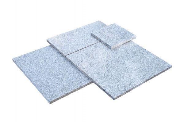 Global Stone - Polar Granite Paving Collection - Silver Grey - Single Sizes (Individual Slabs)