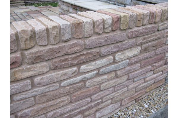 Global Stone - Old Rectory - Walling - Modak Rose - Blocks